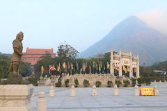 Hong Kong: Kloster för Po Lin Royaltyfri Foto