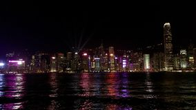 Hong Kong skyline at night. Royalty Free Stock Image