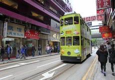 Hong Kong kopii pokładu tramwaj Zdjęcie Stock