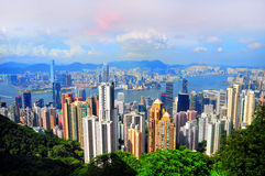Hong kong and Kowloon Royalty Free Stock Images