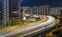 Hong Kong Kwan Tong Night DJI. Hong Kong Kowloon Choi Hung DJI phantom4 pro 2.0 Air Shot Lightroom Stock Images