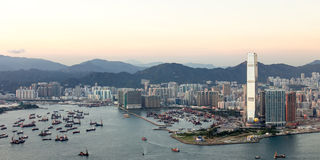 Hong Kong Kowloon City. The cityscape of Hong Kong Kowloon city, taken from Victoria Peak Royalty Free Stock Images