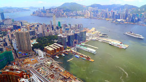 Hong kong and kowloon cityscape Stock Image