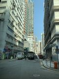Hong Kong, Kowloon, construção de Yau Ma Tei Private Residential fotos de stock
