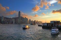 Hong Kong Kowloon Ferry Pier Image stock