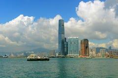 Hong Kong Kowloon linia horyzontu i Wiktoria schronienie Zdjęcie Royalty Free