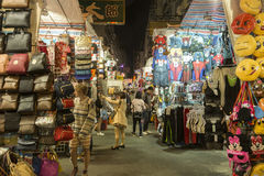 Hong Kong Kowloon nattmarknad Arkivbilder