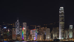 Hong Kong from Kowloon at night Royalty Free Stock Photos