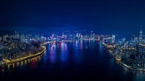 Hong Kong Kowloon skyline. Hong Kong Kowloon Choi Hung DJI phantom4 pro 2.0 Air Shot Lightroom kai tak cruise terminal Royalty Free Stock Photography