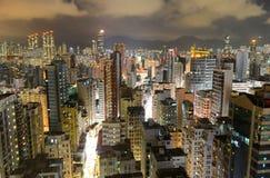 Hong Kong Kowloon Skyline at night Royalty Free Stock Photo