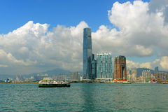 Hong Kong Kowloon Skyline and Victoria Harbour Royalty Free Stock Photo