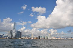Hong Kong Kowloon view. With the new tallest building - ICC Royalty Free Stock Images