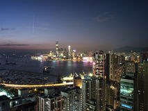 Hong Kong Kowloon View Victoria Bay Royalty Free Stock Images