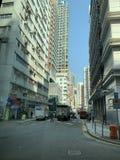 Hong Kong, Kowloon, Yau Ma Tei Private Residential-Gebäude stockfotos