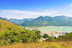 hong kong krajobrazu góry o tai Obrazy Royalty Free