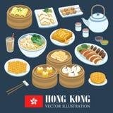Hong Kong kuchnie ilustracji