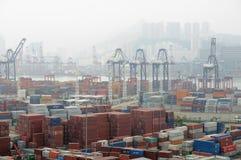 Hong Kong Kwai Chung Container Terminal Stock Image