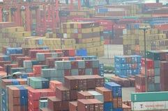 Hong Kong Kwai Chung Container Terminal Royalty Free Stock Image