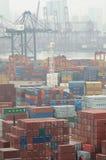 Hong Kong Kwai Chung Container Terminal Royalty Free Stock Images