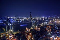 Hong Kong Kwai Chung Wharf 2016 Images libres de droits