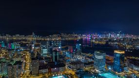 Hong Kong Kwan Tong Kowloon Bay Skyline. Hong Kong Kowloon Choi Hung DJI phantom4 pro 2.0 Air Shot Lightroom Royalty Free Stock Image