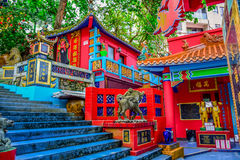 HONG KONG: Kwun Yam Shrine temple, a Taoist shrine at the southeastern end of Repulse Bay, Hong Kong Island Stock Image
