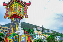 HONG KONG: Kwun Yam Shrine temple, a Taoist shrine at the southeastern end of Repulse Bay, Hong Kong Island Stock Photos