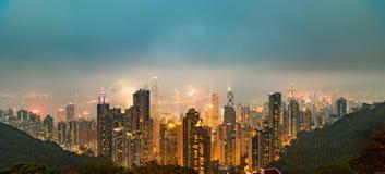 Hong Kong la crête de Victoria Images stock