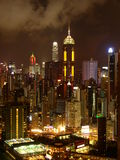 Hong Kong la nuit Images stock