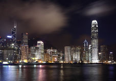 Hong Kong la nuit photo libre de droits