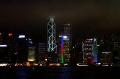 Hong Kong la nuit Image stock