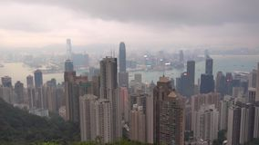 Hong-Kong la opinión de Victoria Peak del pabellón chino metrajes