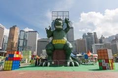Hong Kong: Lai Yuen Amusement parkerar 2015 Fotografering för Bildbyråer