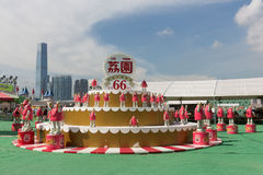 Hong Kong: Lai Yuen Amusement parkerar 2015 Arkivfoto
