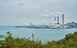 Hong Kong Lamma Island Power Plant Royalty Free Stock Photos