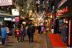 Hong Kong : Lan Kwai Fong Stock Photo