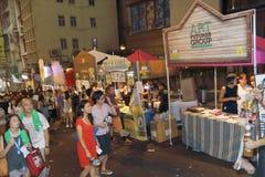 Hong Kong: Lan Kwai Fong Beer & Fest 2015 di musica immagine stock