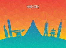 Hong kong Landmark Global Travel And Journey paper background. V. Ector Design Template.used for your advertisement, book, banner, template, travel business or Royalty Free Stock Photo