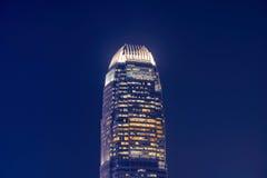 Hong Kong landmark office building at night Royalty Free Stock Photos