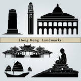 Hong Kong landmarks and monuments Royalty Free Stock Photos