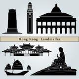 Hong Kong landmarks and monuments Royalty Free Stock Photos