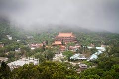 Hong Kong, Lantau-Eiland, Po Lin Monastery Stock Afbeeldingen
