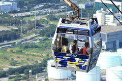 Hong Kong Lantau Island Cable car. Ngong Ping 360 cable car on Lantau Island, Hong Kong Stock Images