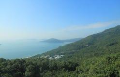 Hong Kong lantligt kustlandskap arkivfoton