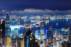Hong Kong late night Royalty Free Stock Image