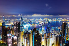Hong Kong late night Stock Photography