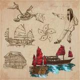 Hong Kong (le illustrazioni di vettore imballano il nessun 2) - Viaggio Fotografie Stock Libere da Diritti