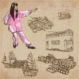 Hong Kong (le illustrazioni di vettore imballano il nessun 5) - Viaggio Fotografia Stock Libera da Diritti
