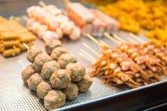 Hong Kong, le 24 septembre 2016 : : Nourriture de rue de Hong Kong à la nourriture s Photographie stock