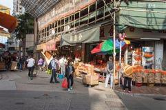 Hong Kong-Lebensmittelmarkt Stockbild